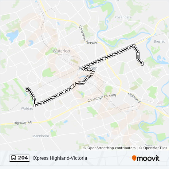 204 Route: Time Schedules, Stops & Maps - Ottawa/Lackner