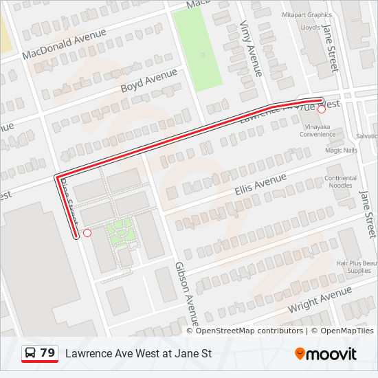79 Route Time Schedules Stops Amp Maps Lawrence Ave West