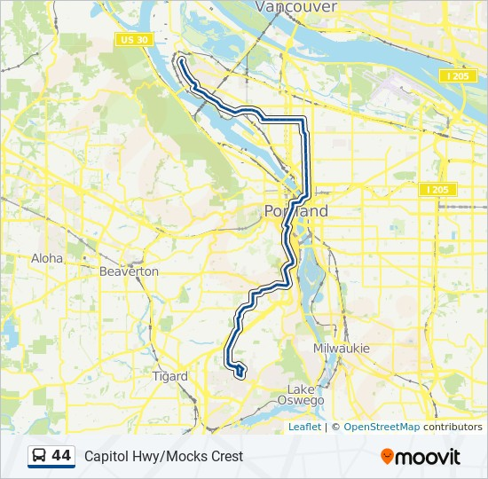44 Route: Time Schedules, Stops & Maps - St Johns