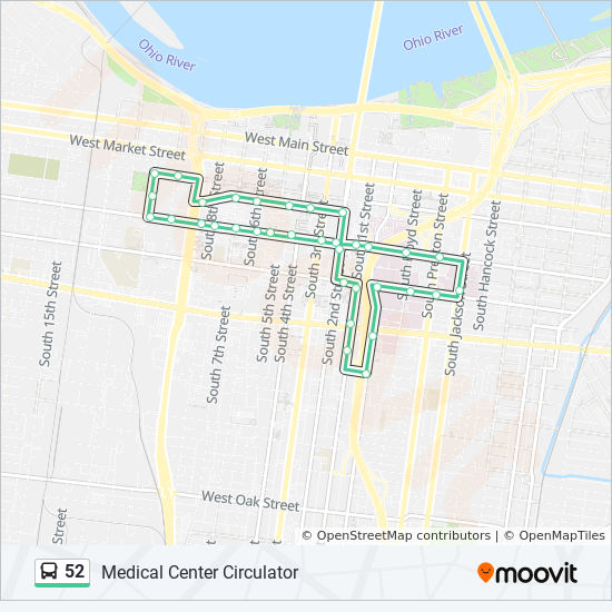 52 Route: Time Schedules, Stops & Maps - Medical Center