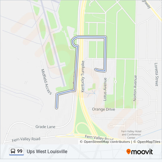 99 Route: Time Schedules, Stops & Maps - Ups West Louisville