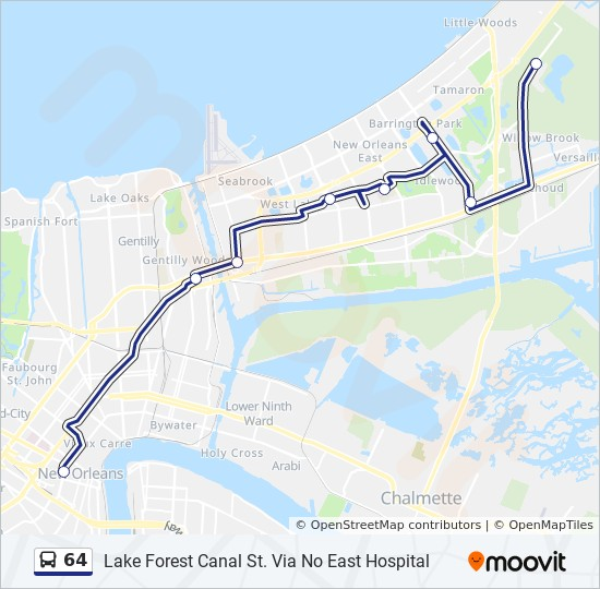 64 Route: Time Schedules, Stops & Maps