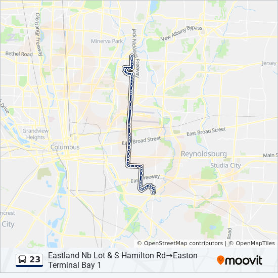 23 Route: Time Schedules, Stops & Maps