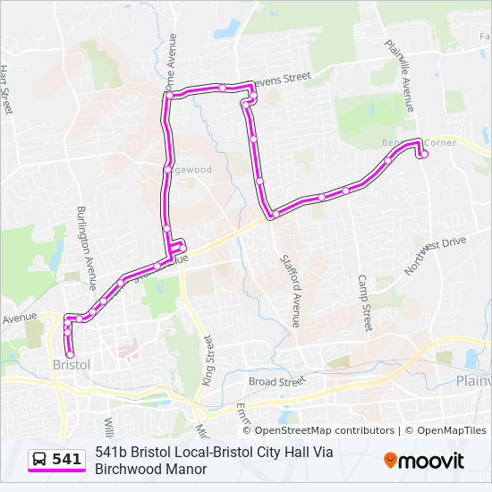 541 Route: Time Schedules, Stops & Maps - 541b Bristol Local-Bristol ...