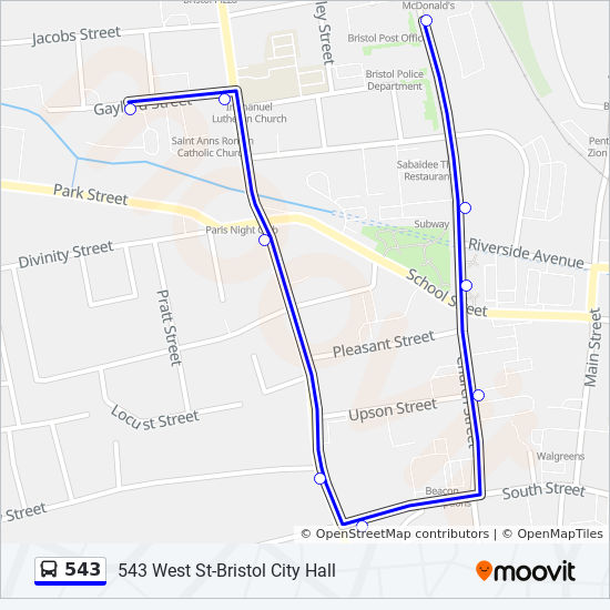 543 Route: Time Schedules, Stops & Maps