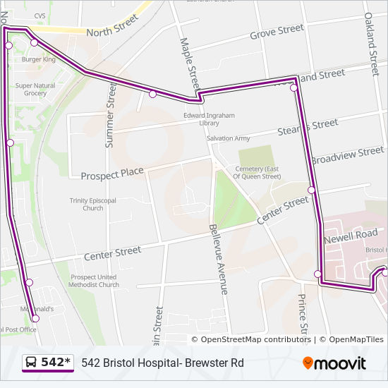 542* Route: Time Schedules, Stops & Maps