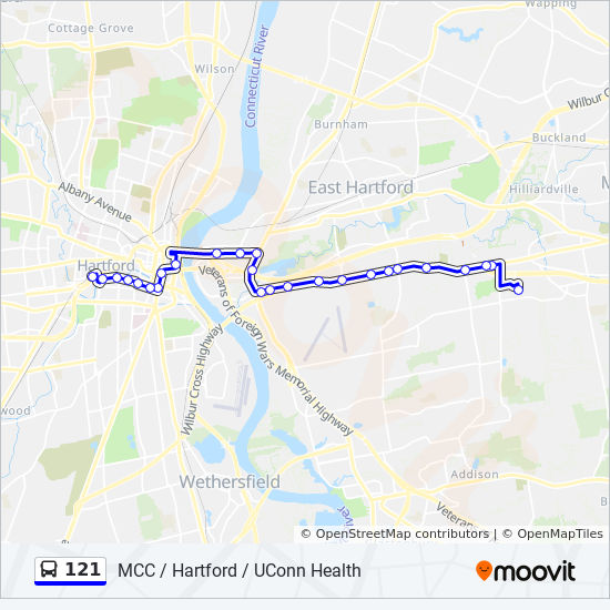 121 Route Time Schedules Stops Maps 121 Mcc