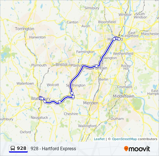 928 Route: Time Schedules, Stops & Maps - 928 - Hartford Express