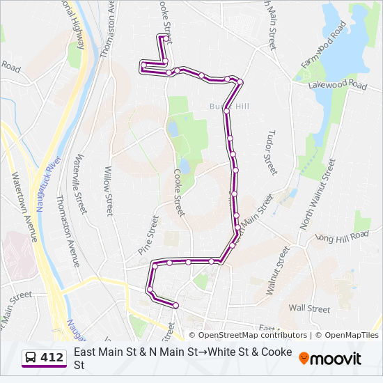 412 Route: Time Schedules, Stops & Maps