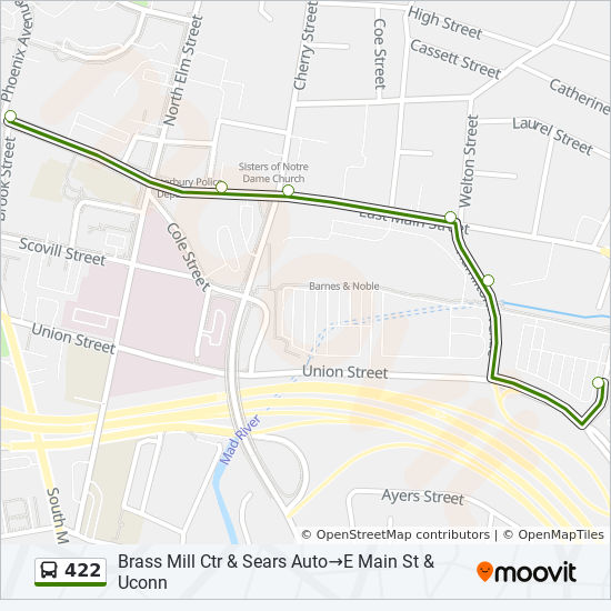 422 Route: Time Schedules, Stops & Maps