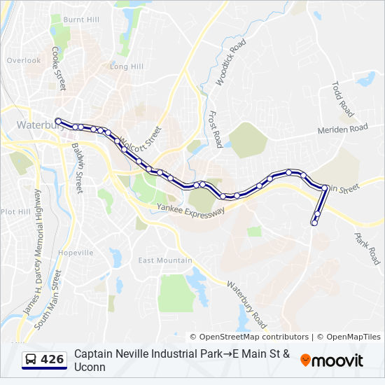426 Route: Time Schedules, Stops & Maps