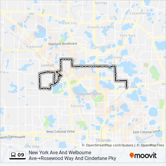 Winter Park Florida Map.09 Route Time Schedules Stops Maps