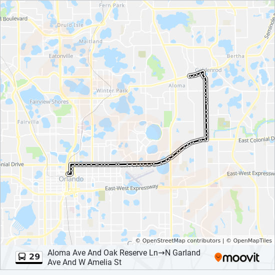 29 Route: Time Schedules, Stops & Maps