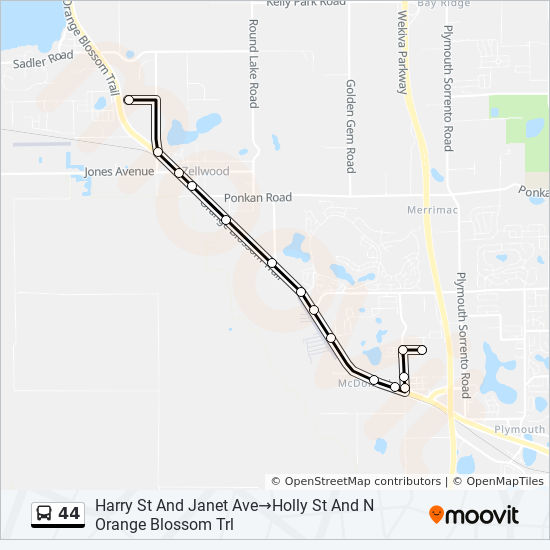 44 Route: Time Schedules, Stops & Maps - Harry Street And ...