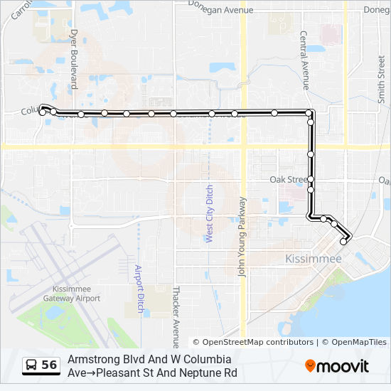 56 Route Time Schedules Stops Maps Lynx Kissimmee Intermodal