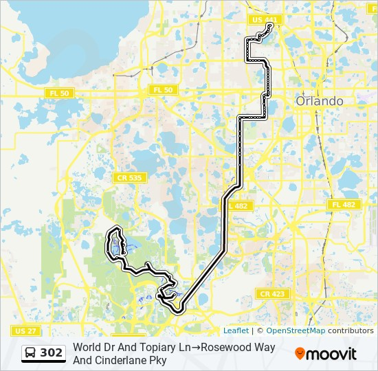 302 Route: Time Schedules, Stops & Maps - World Drive And