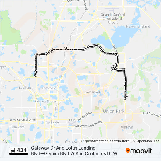 Seminole State Oviedo Campus Map.434 Route Time Schedules Stops Maps Gateway Dr And Lotus