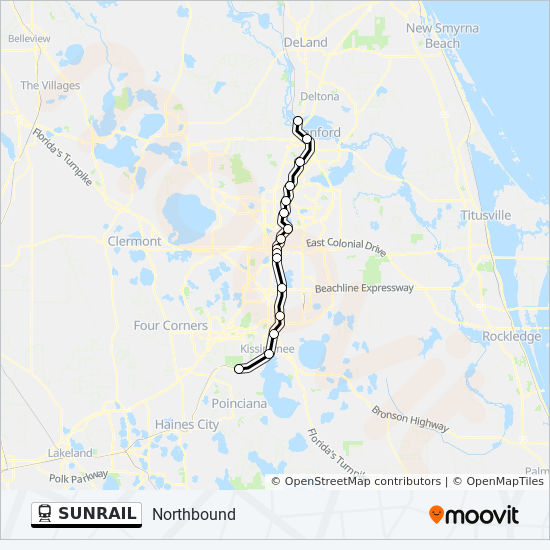 SUNRAIL Route: Time Schedules, Stops & Maps - Northbound on florida airlines map, florida wedding map, florida caribbean map, florida fishing map, florida routes map, florida airports map, florida museums map, florida adventure map, florida tourism map, florida people map, florida reference map, florida travel map, florida art map, florida history map, florida entertainment map, florida general map, florida weather map, florida technology map, florida family map, florida golf map,