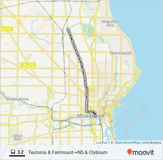 12 Route: Time Schedules, Stops & Maps - Teutonia & Fairmount #852