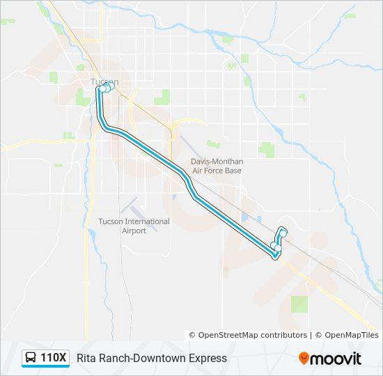 Rota Da Linha 110x Horarios Estacoes E Mapas Rita Ranch Via