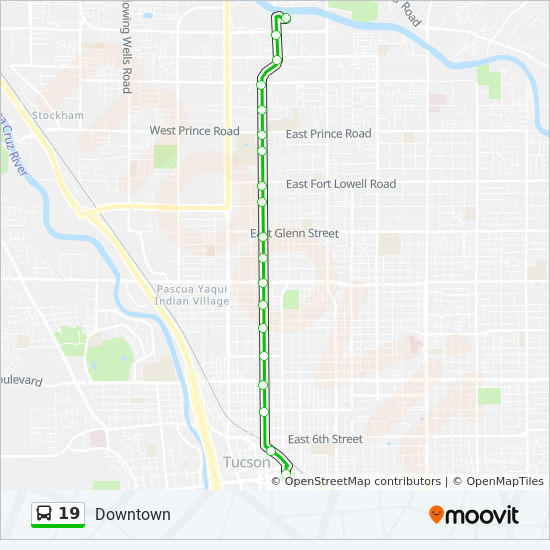 19 Route Time Schedules Stops Amp Maps Downtown