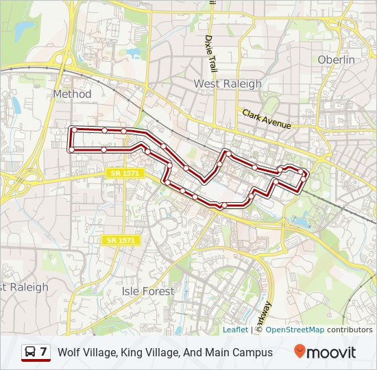 7 Route: Time Schedules, Stops & Maps - Wolf Village, King ...