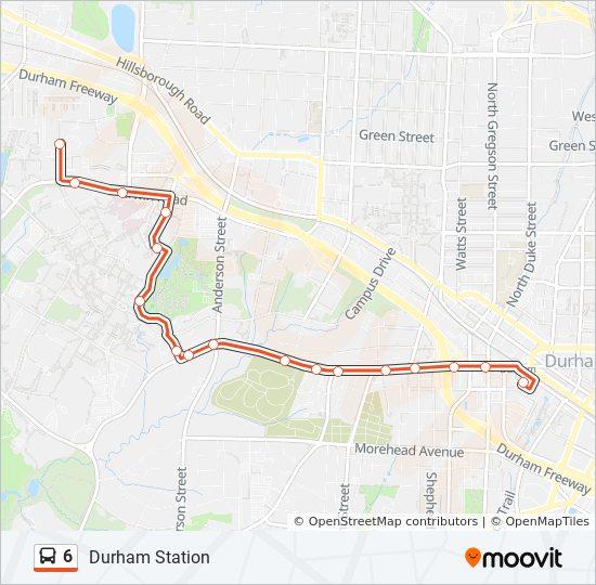 6 Bus Line Map
