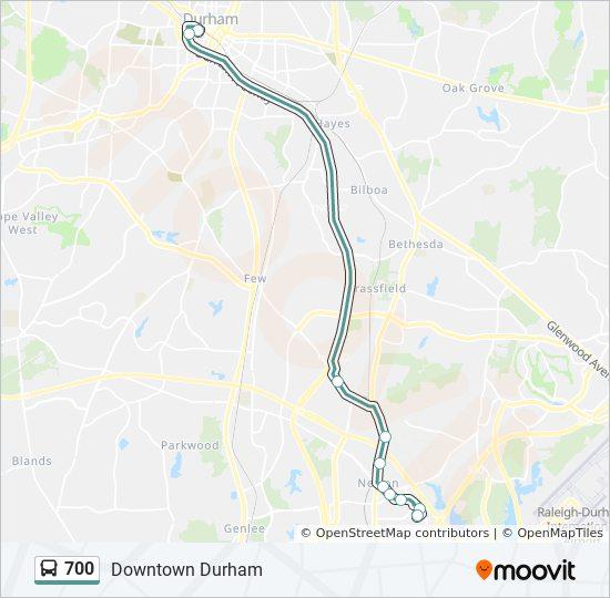 700 Bus Line Map