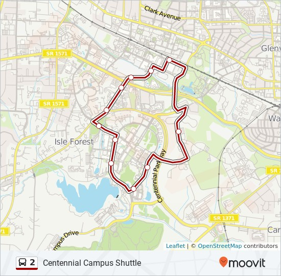2 Route: Time Schedules, Stops & Maps - Centennial Campus ...
