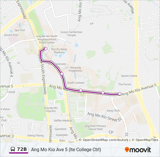 72B Route: Timetables, Stops & Maps