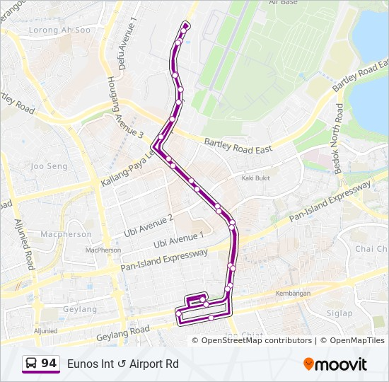 94 Route: Schedules, Stops & Maps - Eunos Int