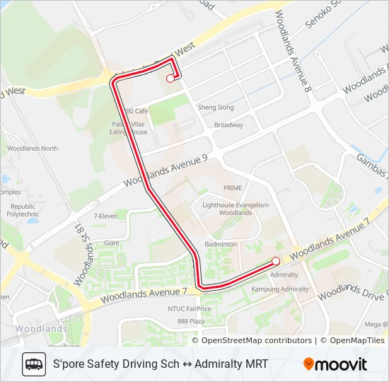 SSDC SHUTTLE Route: Time Schedules, Stops & Maps - Admiralty MRT Station