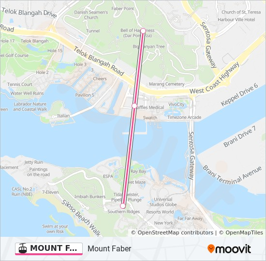 MOUNT FABER LINE Route: Time Schedules, Stops & Maps - Mount Faber on