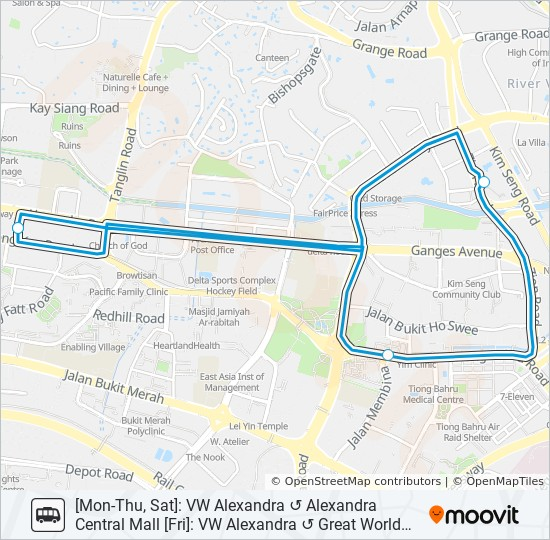 VW ALEXANDRA SHUTTLE Route: Time Schedules, Stops & Maps ...
