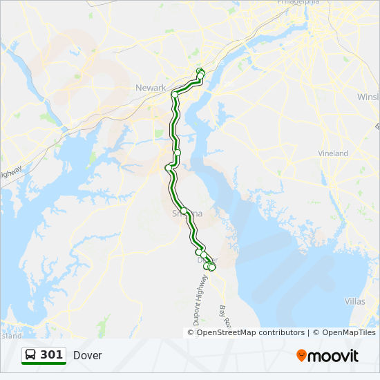 301 Route Time Schedules Stops Amp Maps Wilmington