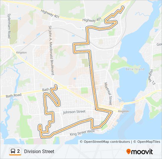 Mapa de 2 de autobús