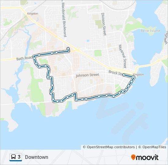 3 Bus Line Map