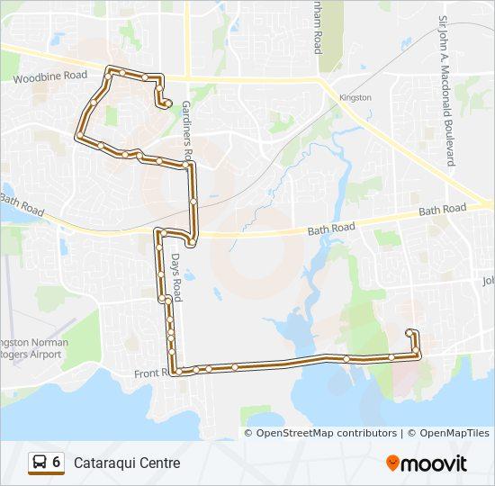 Mapa de 6 de autobús