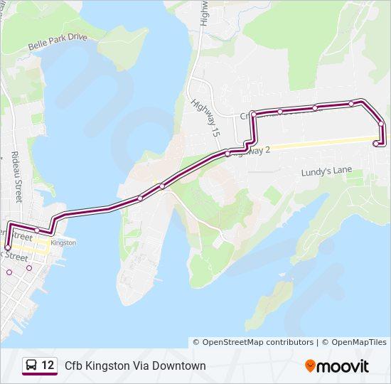 Mapa de 12 de autobús