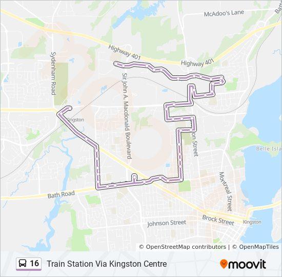 16 Bus Line Map