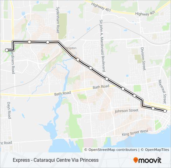 Mapa de 502 de autobús