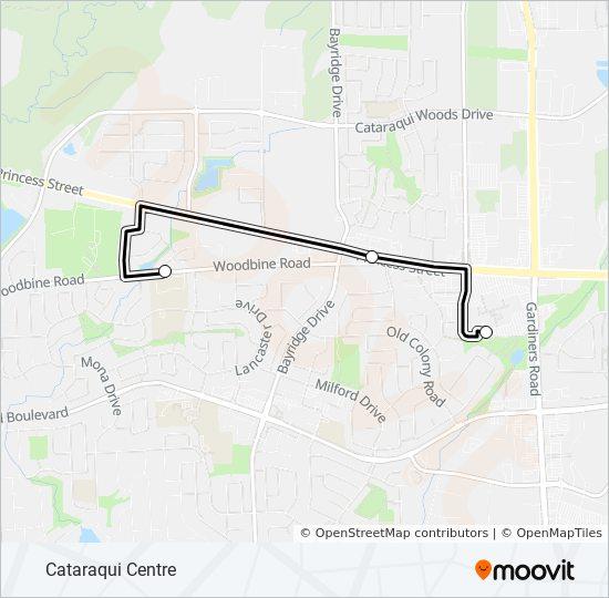 Plan de la ligne COV de bus