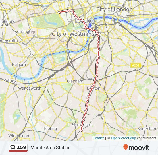 Marble Arch London Map.159 Route Time Schedules Stops Maps Marble Arch