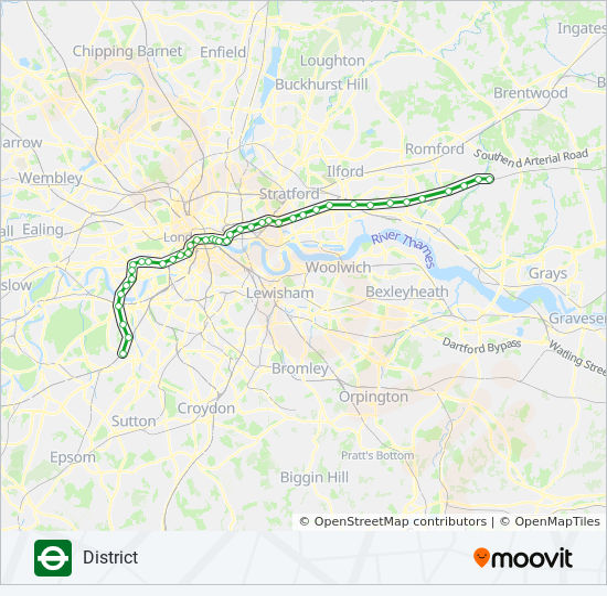 Richmond London Map.District Route Time Schedules Stops Maps Richmond Edgware Road
