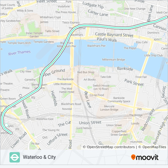 Karte London City.Linie Waterloo City Fahrpläne Haltestelle Karten Bank Waterloo