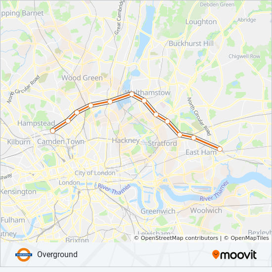 London Public Transport Map.Overground Route Time Schedules Stops Maps Clapham Junction