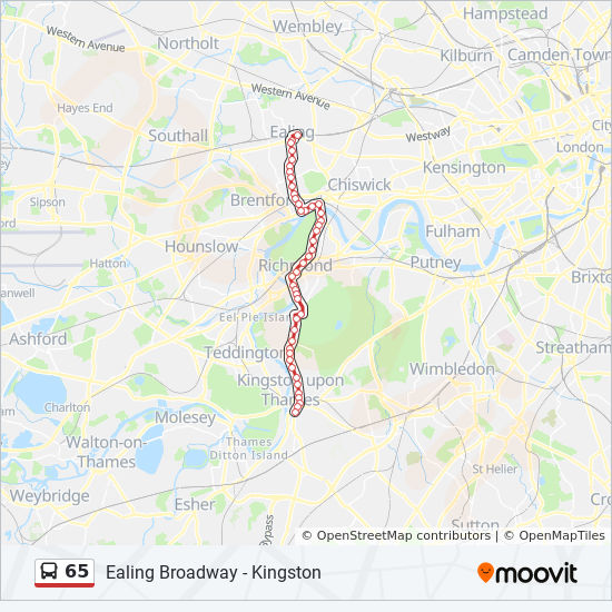 65 Route: Time Schedules, Stops & Maps - Kingston