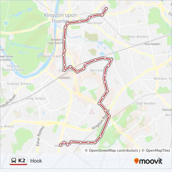 Kingston Hospital Map K2 Route: Time Schedules, Stops & Maps   Kingston Hospital