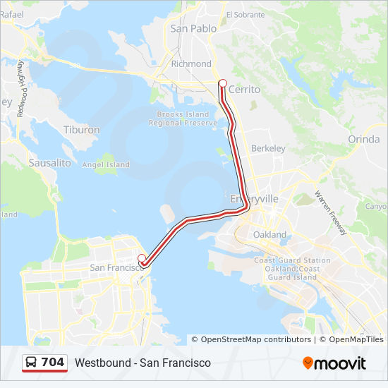 704 Route: Time Schedules, Stops & Maps - Westbound - San ... on bart station map, bart line map, san francisco bus routes, bart extension map, amtrak route map, los angeles metro route map, sf bart map, east bay bart map, bart hotel map, bay area bart route map, bart rail map, sfo bart map, bart super mario map, washington metro route map, bart system map, bart schedule & map, bay area rail map, bart subway map, bart train map, bart parking map,