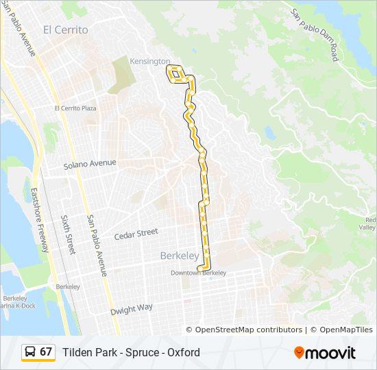 67 Bus Line Map